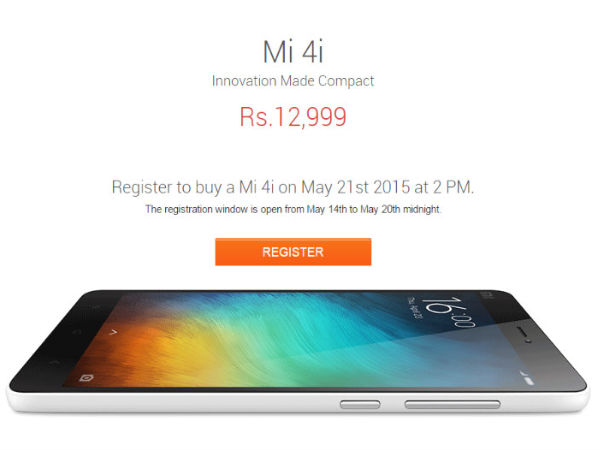 Xiaomi Mi 4i to Go on Flash Sale Today at 2PM