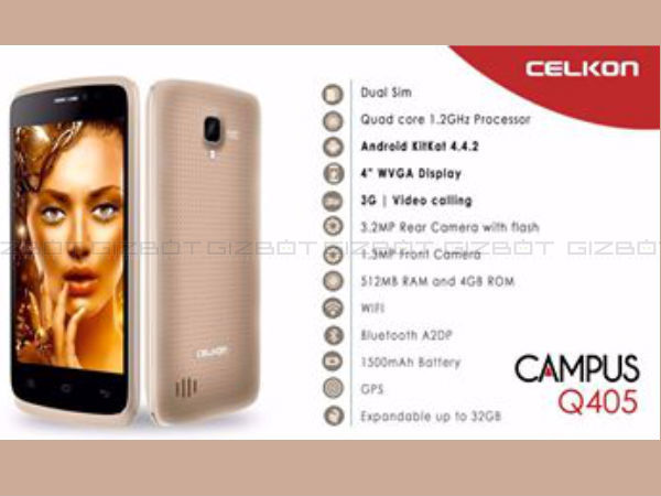 Exclusive: Celkon Campus Q405 to Launch on May 22 for Rs 3,199