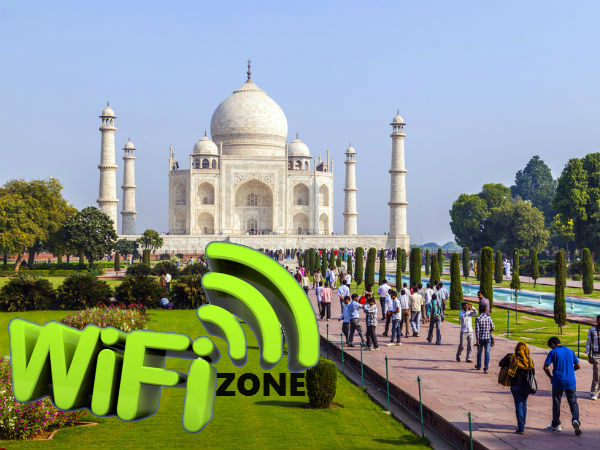 Major tourist places to have Wi-Fi facility