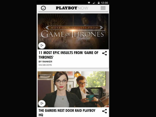 Enjoy 'Playboy' on your Smartphone sans nudity!