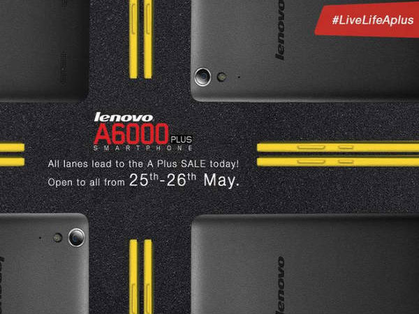 Lenovo A6000 Plus to Go on Open Sale on Flipkart From Today