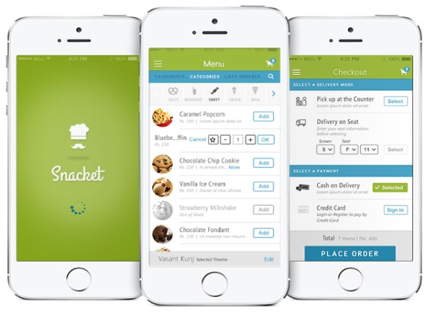 Snack away at the movies with Snacket app
