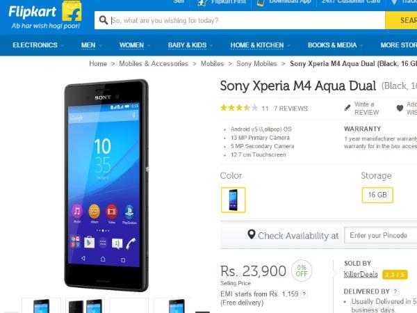sony xperia m4 aqua price in india flipkart disease usually