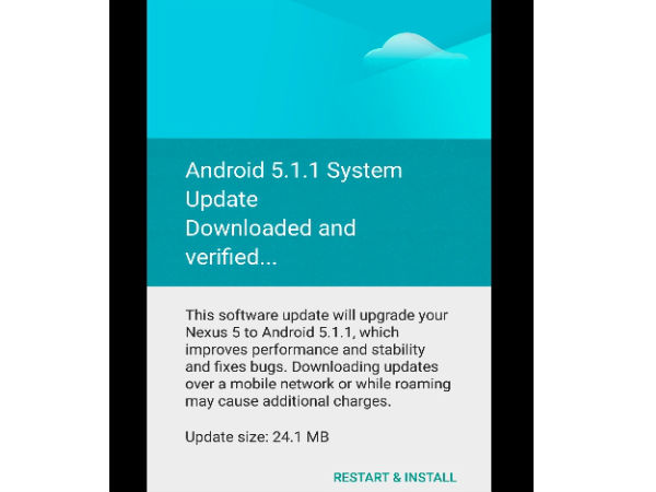 Nexus 5 Started Receiving Android 5.1.1 Update in India