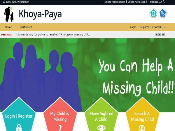 Web Portal to Trace missing Children launched
