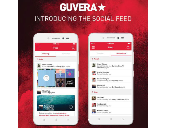 Guvera Music Streaming App Launches Social Feed on Android and iOS