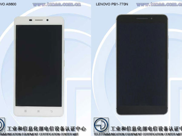 Two Lenovo Smartphones Spotted At TENAA: Sports 4G And Dual-SIM