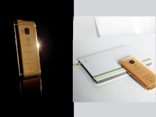 HTC shows off 24k Gold One M9 at UEFA Champions League 2015