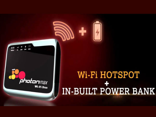 Tata Docomo Launches Photon Max Wi-Fi Duo with Inbuilt Power Bank