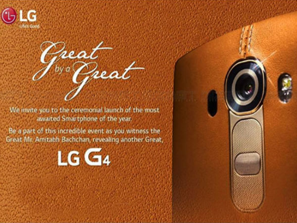 LG Sends Out Invites for G4 Launch in India on June 19th