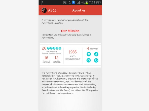 ASCI launches mobile app for complaints against misleading ads