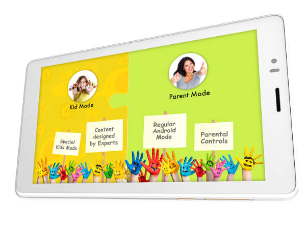 Micromax Canvas Tabby Android tablet with Kids-use Mode launched