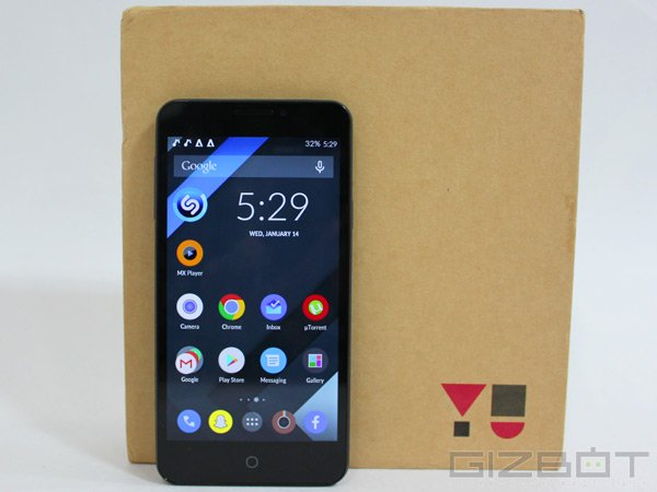 Yu Yuphoria Started Receiving Cyanogen OS 12 Update