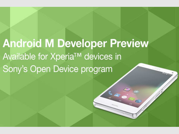 Sony Announces Android M Preview Support for Selected Xperia Devices