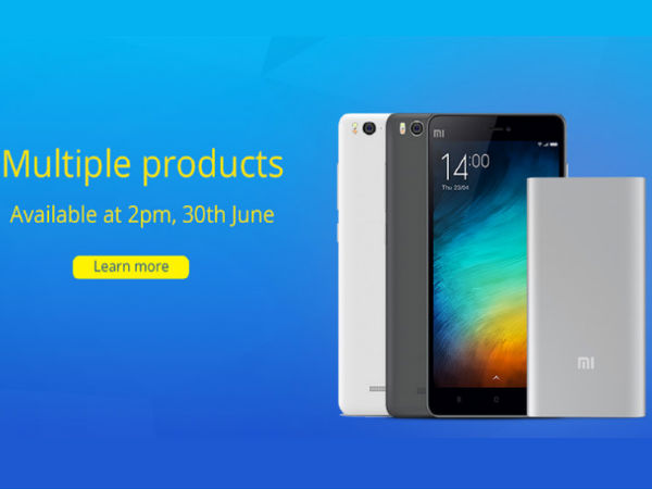 Xiaomi Mi 4i, Mi Power Bank to Go on Flash Sale Today at 2PM