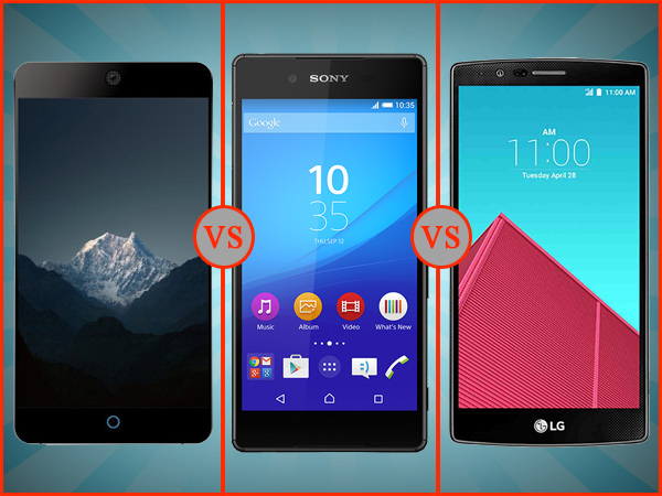 Meizu MX5 vs Sony Xperia Z3+ vs LG G4: Specs Comparison