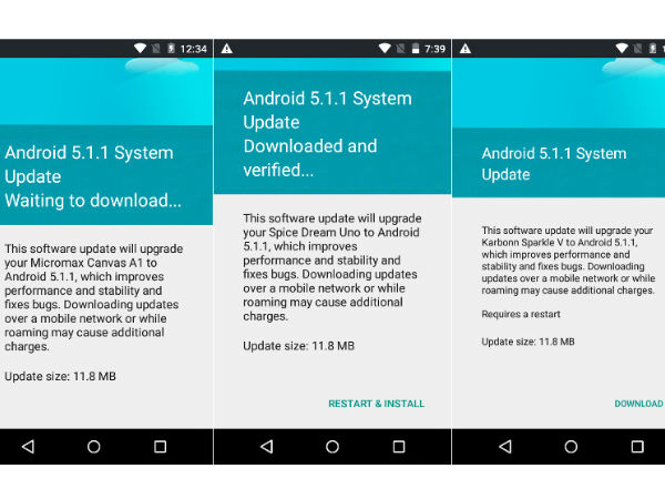 Android One Smartphones Started Receiving Android 5.1 Lollipop Update