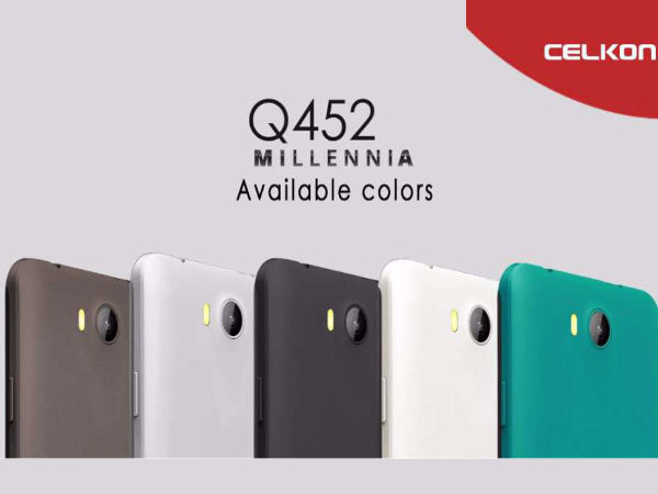 Celkon Millennia Q452 with Quad-Core CPU Launched at Rs 4,299
