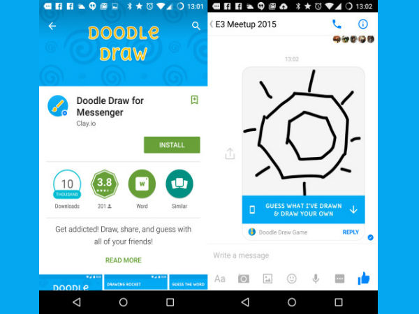 Now, play game on Facebook Messenger