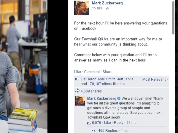 Just feel emotions and I'll know it: Mark Zuckerberg
