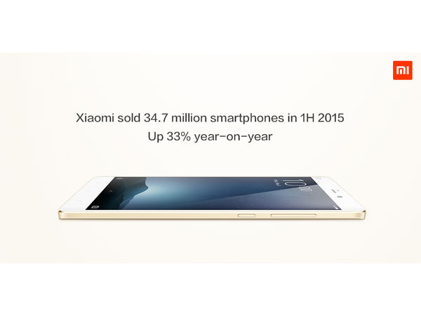 Xiaomi sold 34.7 million smartphone in first 6 months of 2015