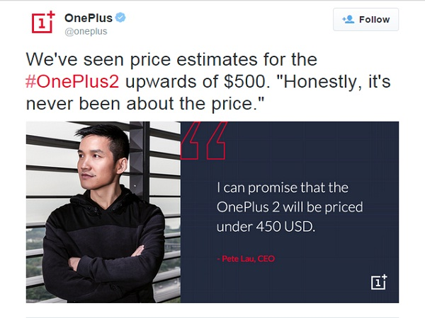 OnePlus 2 will cost more than the One, CEO Pete Lau confirms!