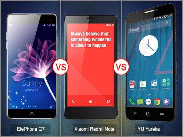 Elephone G7 vs YU Yureka vs Xiaomi Redmi Note: Specs Comparison