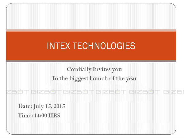 MWC Shanghai: Intex sends out invite for a 'Big Launch' on July 15