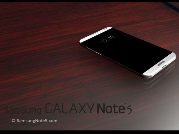 Samsung Galaxy Note 5: Slightly Curved Edges