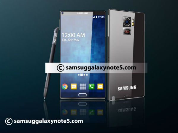 Samsung Galaxy Note 5: Projector on Back