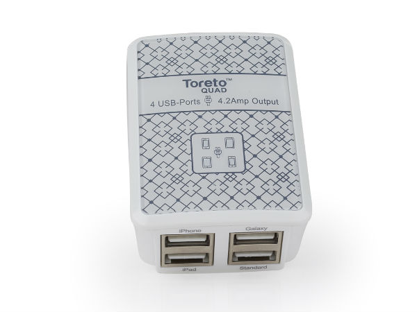Toreto Launches AC Adopter At Rs 1499, Features 4 USB Ports