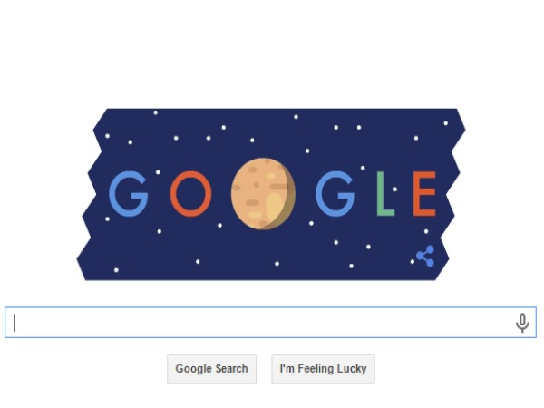 Google doodle celebrates New Horizons' Pluto fly-by