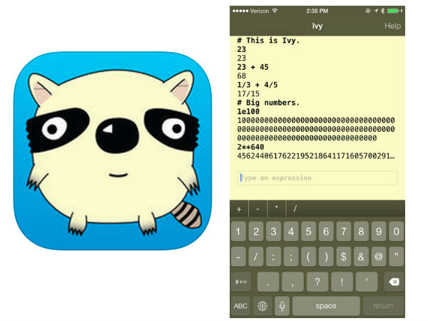 Google Releases 'Ivy', A Big Number Calculator App For iOS