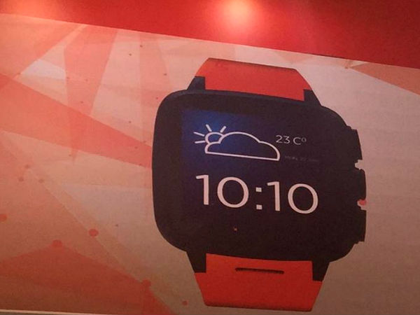 Intex iRist Smartwatch spotted at MWC Shanghai 2015