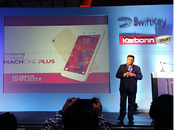 Karbonn Titanium Mach One Plus with Swiftkey keyboard launched