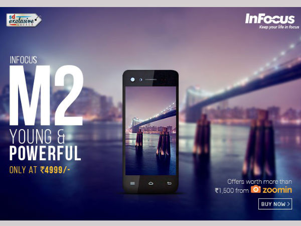 Infocus M2 4G to launch at Rs 5,499 on July 25th