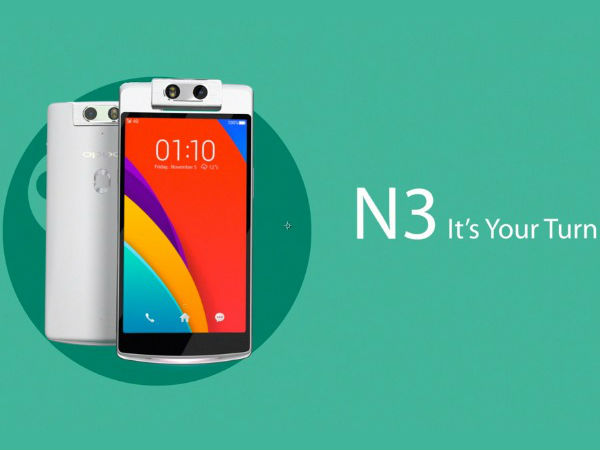 Oppo N3: A Motorized swivel camera Featured Smartphone