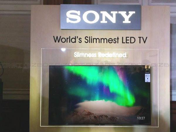 Sony Unveiled World Slimmest LED 4K TV in India