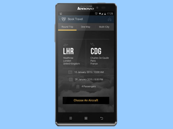 App to Help you board this private jet