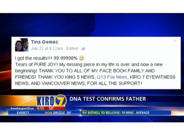 Facebook helps woman reunite with father