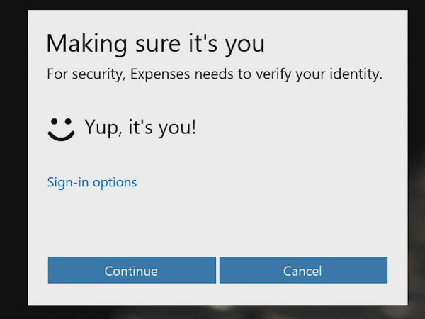 Secure With Microsoft Hello