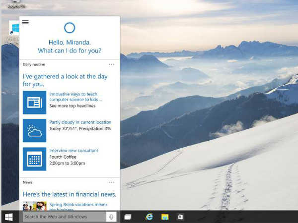 Virtual Assistant: Cortana