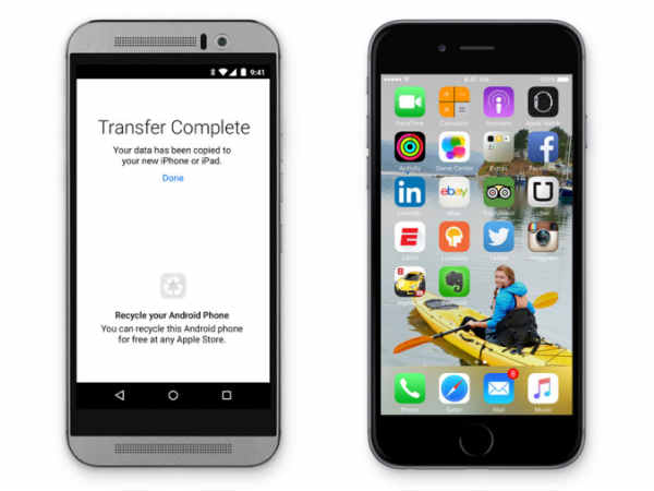 Transfer Using 'Move to iOS' app