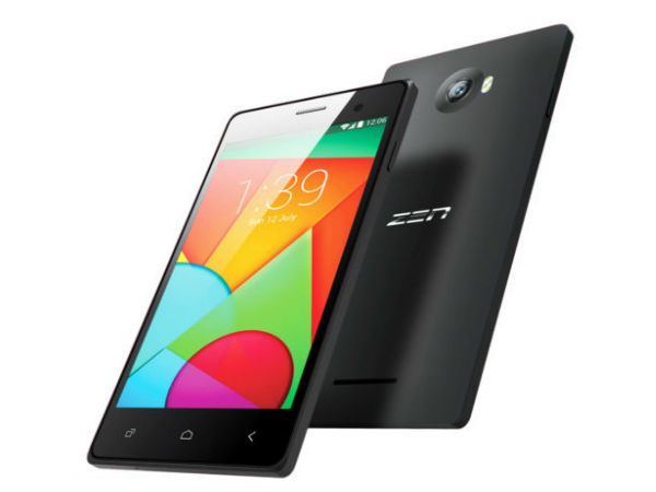 Zen Ultrafone Sonic 1 Smartphone Launched For Rs. 5,999