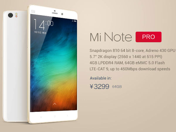 Xiaomi Mi Note Pro vs Samsung Galaxy Note 4: Which is a Better Phablet