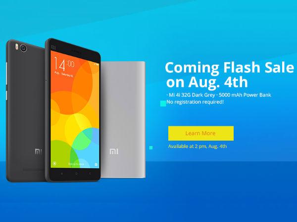 Next Xiaomi Flash sale on 4th August: 64GB Mi4i & 5000mah Mi Powerbank