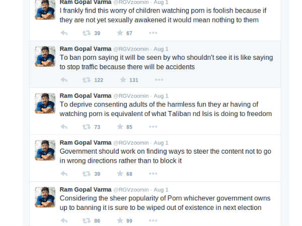 Government bans porn in India! Here's how Ram Gopal Verma reacted