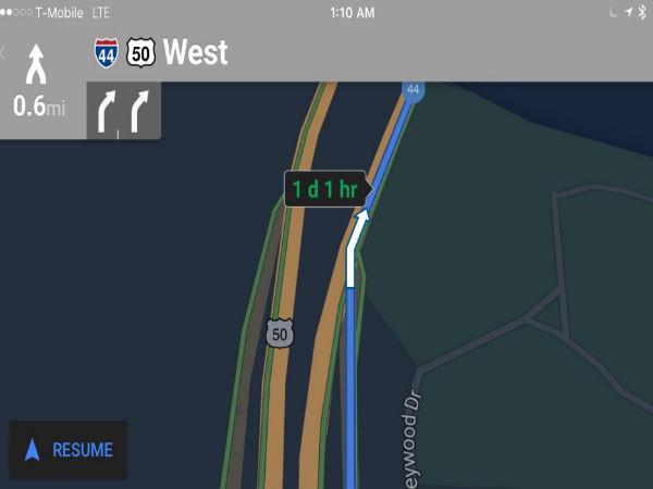 Google Maps on iOS gets Night Mode