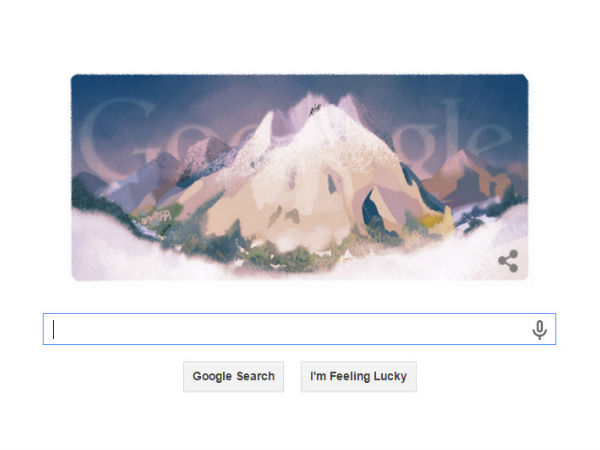 Google Doodle Celebrates the 229th Anniversary of Mont Blanc Ascent