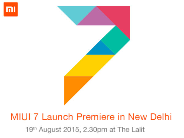 Xiaomi MIUI 7 Global ROM to launch on August 19 at an event in India